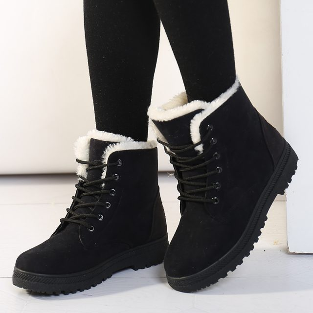Women Boots Snow Boot For Women Winter Shoes Warm Plush Insole from Todays Fashion