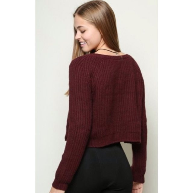 Autumn winter women sweaters and pullovers long sleeve casual from Todays Fashion